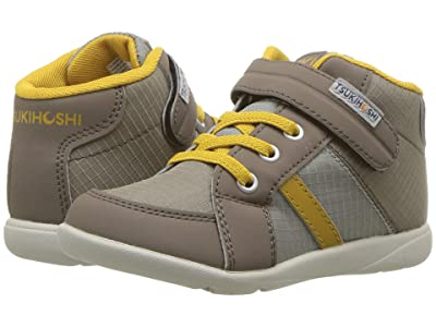 Tsukihoshi Kids Grid (Toddler/Little Kid) (Tan/Mustard) Boys Shoes