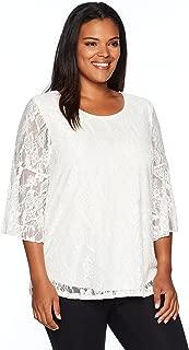 white lace plus size blouse