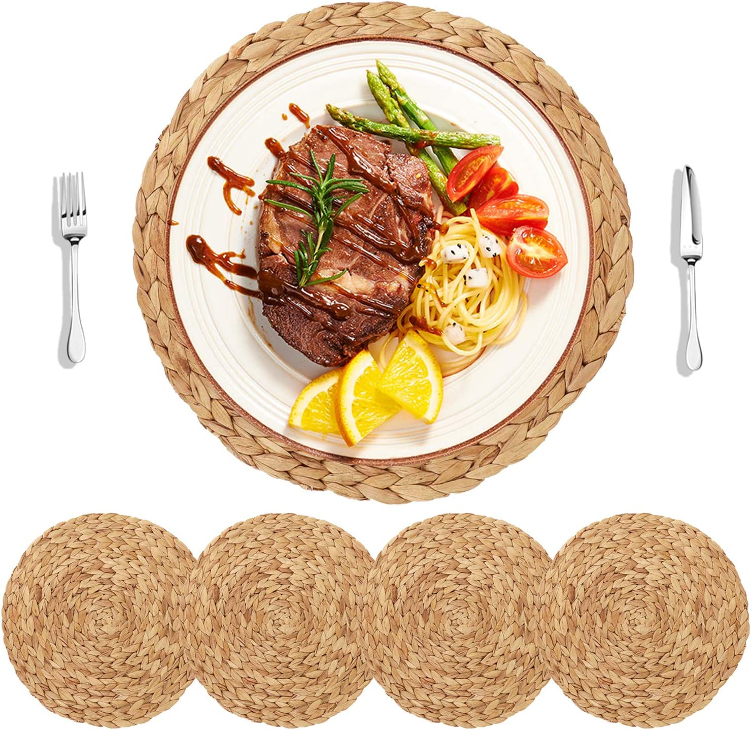 Industry No. Cheap sale 1 HomeDo 4Pack Large Round Woven Dining Placemats for Water Table