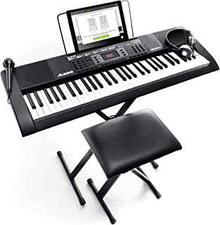 Alesis Melody 61 MKII - 61-Key Portable Keyboard with Built-In Speakers, Headphones, Microphone, Piano Stand, Music Rest a...