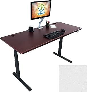 Lander Electric Adjustable Height Sit Stand Desk, Black Base (Northern Cloud Top, 30