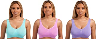 Unpadded Seamless bra by Marielle (3 pack of standard, bright or light colors)
