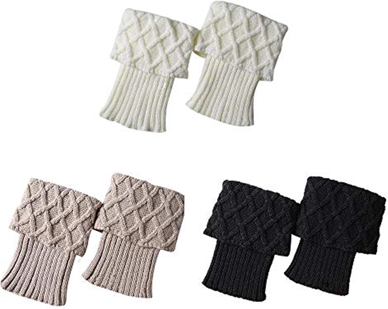 Durio Boot Socks for Women Knitted Short Boot Cuffs Crochet Leg Warmers Winter Warm Leg Cuffs Socks