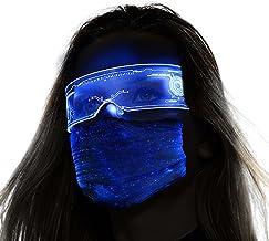 Óculos Cyberpunk com visor de LED para cosplay, Dia das Bruxas, balada, festa