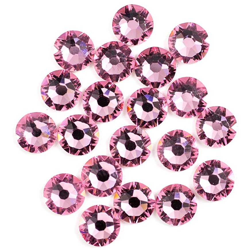 Swarovski - Create Your Style Flatback 5mm Lt Rose 3 packages of 20 Piece (60 Total Crystals)
