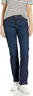Amazon Essentials Women's Slim Straight Jean, New Dark Wash, 12 Short