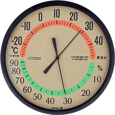 CITIZEN シチズン 温度計 湿度計 掛けタイプ ブラウン TM-42 9CZ013-006
