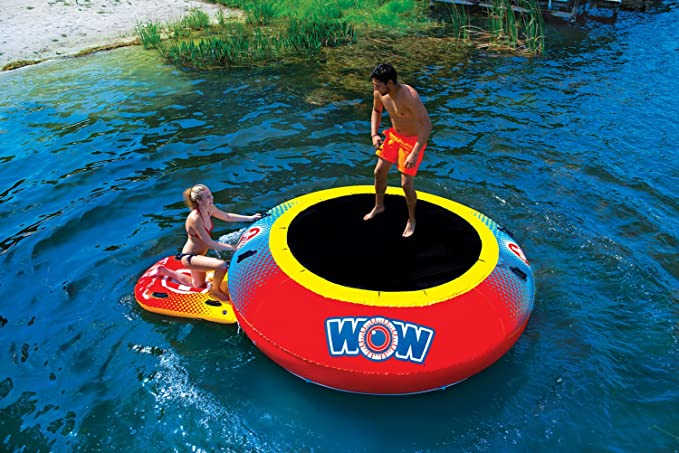 River//Lake Inflatable Trampoline 1-2 person 240lbs max WOW 10/' Air Jump Bouncer