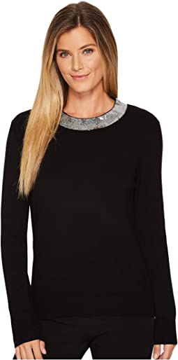 MICHAEL Michael Kors - Sequin Collar Sweater