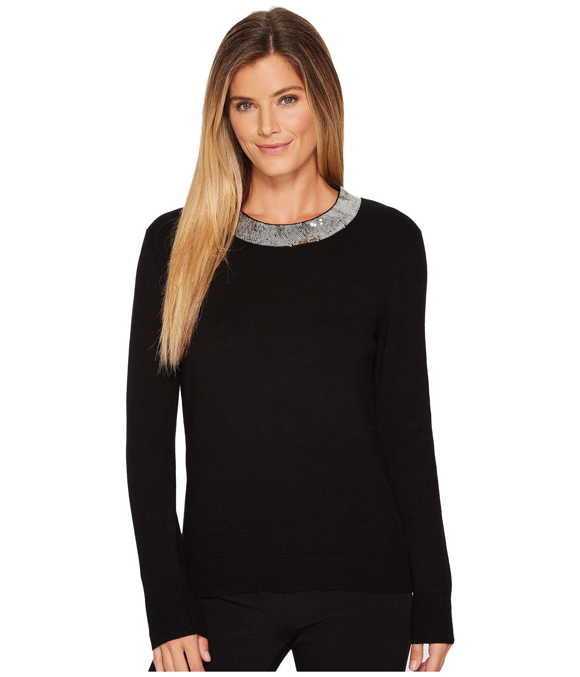 Michael Michael Kors Cottons Sequin Collar Sweater