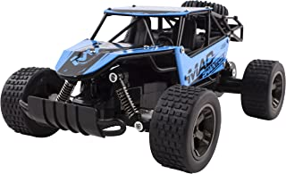 Mad Turbo Diecast Body Remote Control RC Buggy Car Truck 2.4 GHz System 1:18 Scale Size RTR w/ Working Suspension, High Speed, Radio Control Off-Road Hobby Truggy Rechargeable (Blue)
