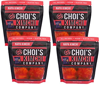 (4) 14 oz. Spicy Napa Cabbage Kimchi [Vegan, Gluten Free, Non-GMO, Probiotic] by Choi's Kimchi Co.
