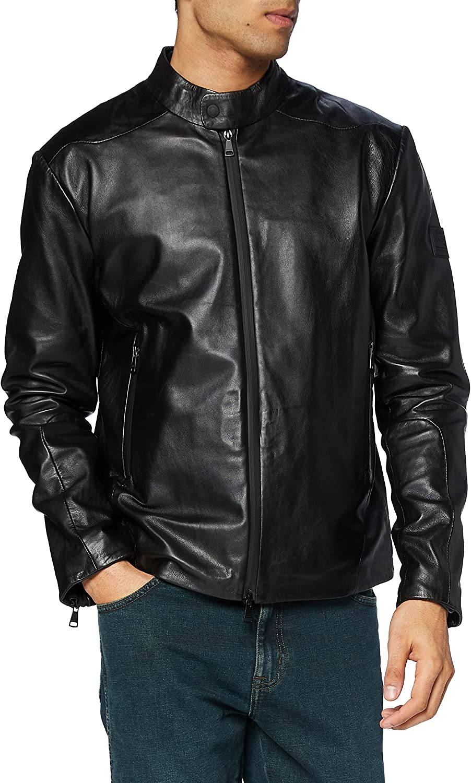 Hackett London Amr Program Leather Chaqueta para Hombre
