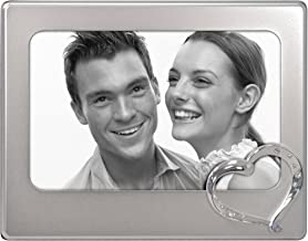 Malden International Designs Diamond Heart Picture Frame, 4x6, Silver