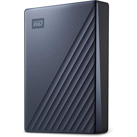 WD 4TB My Passport Ultra Portable Storage - Blue with auto Backup and USB-C & USB 3.1 Compatibility (WDBFTM0040BBL-WESN)