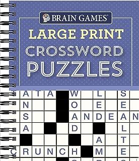 Brain Games - Large Print Crossword Puzzles (Purple)