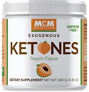 MCM Nutrition – Exogenous Ketones Supplement & BHB - Caffeine-Free, Ketone Drink for Ketosis - Instant Keto Mix, Puts You into Ketosis Quick & Helps with The Keto Diet (Peach Flavor - 15 Servings)