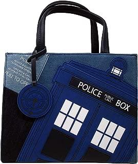 Loungefly x Doctor Who Tardis Denim Tote Bag