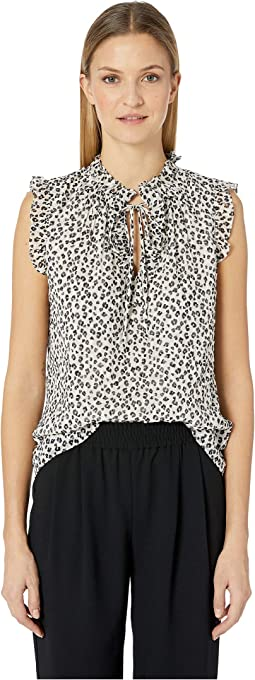 Sleeveless Mini Cheetah Top