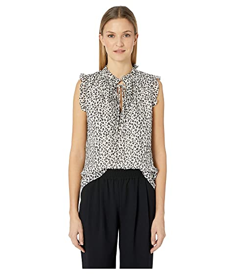 Rebecca Taylor Sleeveless Mini Cheetah Top