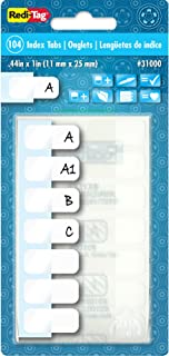 Redi-Tag Side-Mount Self-Stick Plastic Index Tabs, 1 Inch, White, 104/Pack (31000)