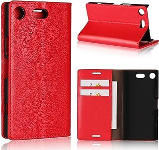 جراب محفظة لهاتف Sony Xperia XZ1، جراب جلدي قابل للطي من Jaorty من الجلد الأصلي بتصميم كتاب مع ميزة المسند مع فتحات للبطاق...