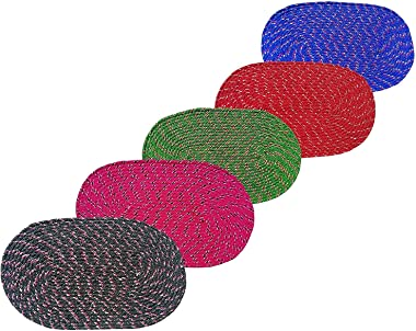 Soulful Creations Solid Modern Mat (Multicolour, Cotton, 13 X 21 Inch)