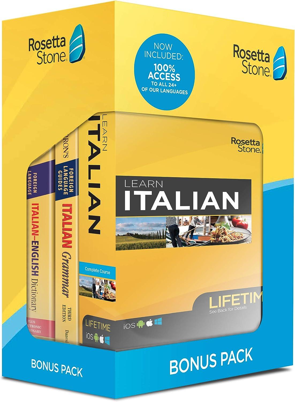 Rosetta Stone Rapid rise Learn Italian Bonus Bundle Pack A Popular standard Online Lifetime