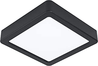 EGLO LED plafondlamp Fueva 5, L x B 16 cm, 1 vlam opbouwlamp modern van staal en een kunststof lichtoppervlak, plafondlamp...