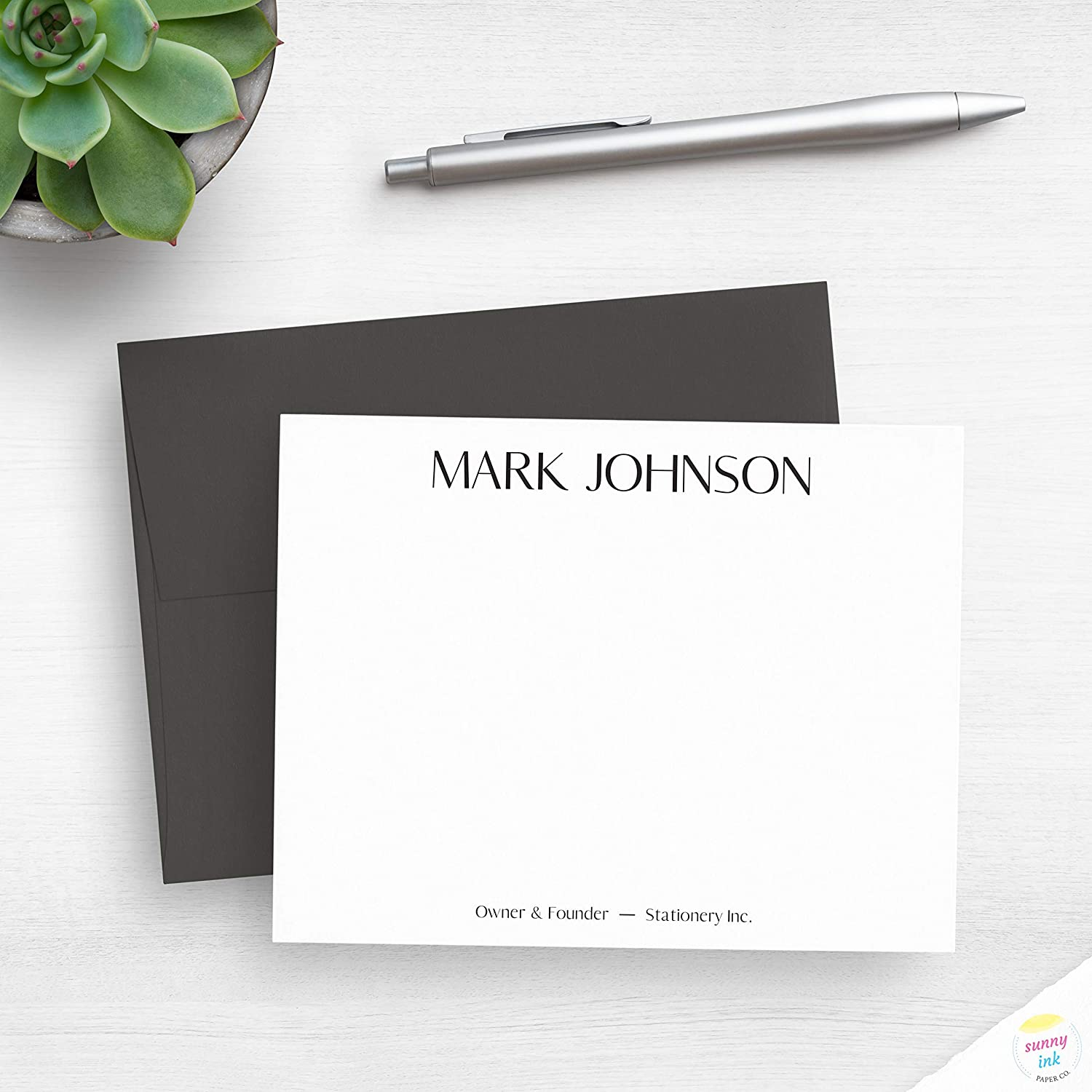 Simple Text Style Low price Customized Flat New Free Shipping Note Cards - Ca Corporate