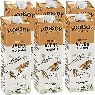 Monsoy - Bebida De Avena Almendra BIO - Caja de 6 x 1L