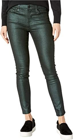 Metallic Ankle Skinny in Emerald