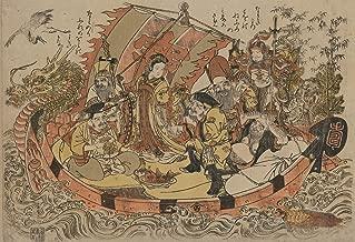 VintPrint Japanese Art Poster - Seven Gods of Good Fortune in The Treasure Boat. 13
