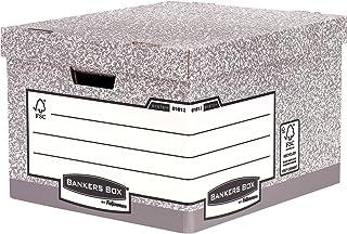 Fellowes 0181201 Bankers Box System Lot de 10 Boîtes d'archives Gris