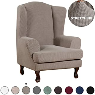 Best 2 piece wingback chair slipcovers Reviews