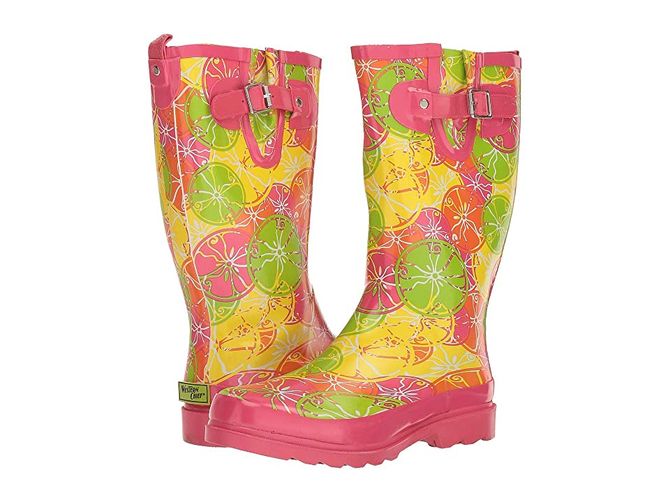 Western Chief Crazy Citrus Rain Boot (Pink) Women