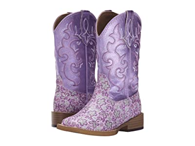 Roper Kids Lavender Square Toe Boot (Toddler/Little Kid) (Purple) Cowboy Boots