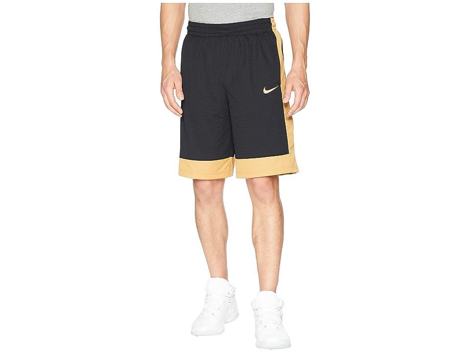 Nike Fastbreak Basketball Short (Black/Elemental Gold/Elemental Gold) Men