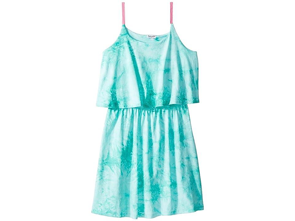 Splendid Littles Cami Dress (Big Kids) (Blue Turquoise/Tie-Dye) Girl