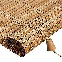 Zonwerend verduisteringsrolgordijn, natuurlijke bamboegordijnen, jaloezieën, gemakkelijk op te hangen, met lifter, jaloezi...