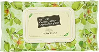 The Face Shop Herb Day Cleansing Tissue 70 Sheets, 70 count Pack of 70