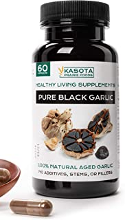 Kasota Prairie Foods. Pure Black Garlic Supplement. All Natural with Allicin for High Blood Pressure, Antio...