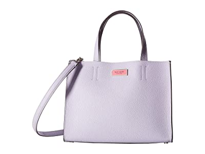 Kate Spade New York Sam Medium Satchel (Frozen Lilac) Handbags