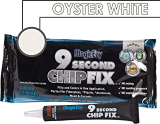 MagicEzy 9 Second Chip Fix (Oyster White) – All-In-One Fiberglass and Gelcoat Repair Kit : Fixes and Colors Fast