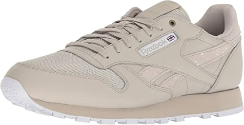 Reebok Men& 039;s Classic Leather Walking schuhe, mc-Marble Weiß, 10 M US