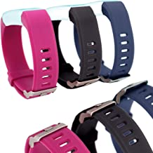 Waargroup Replacement Band for Fitness Tracker Bands ID115Plus HR-ID115Plus Fitness Band Watch Smart Bracelet Wristband 3 Pack Colors for Men Women and Kids