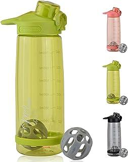 Milu 2-i-1 vattenflaska och proteinblandare läckagesäker 800 ml protein shaker sportflaska vattenflaska barn dricksflaska