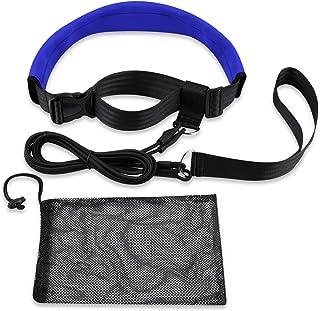 QOGIR Swim Training Belts 3M Swim Resistance Belt Swim Exerciser Belt Swim Tether