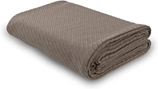 DG Collections Cotton Breathable Thermal Blanket - Queen (90x90 in) Taupe, Snuggle in These Super Soft Cozy Cotton Blankets - Perfect for Layering Any Bed - Provides Comfort and Warmth for Year