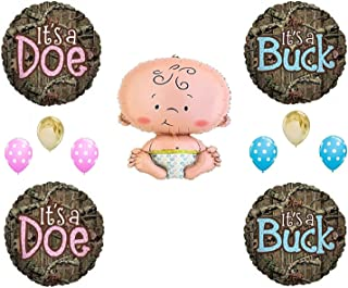 MOSSY OAK GENDER REVEAL CAMO DOE BUCK Balloons Decoration Supplies Baby Shower